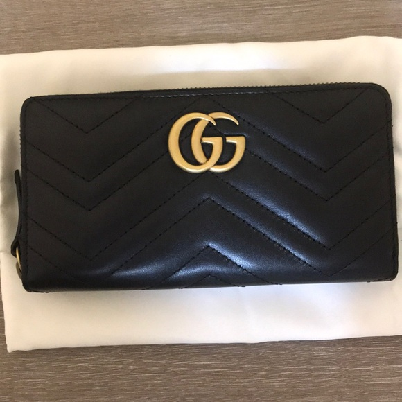c0dd4b65485b Gucci Marmont Zip Around Wallet